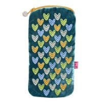 Glasses Case With Embroidered Hearts